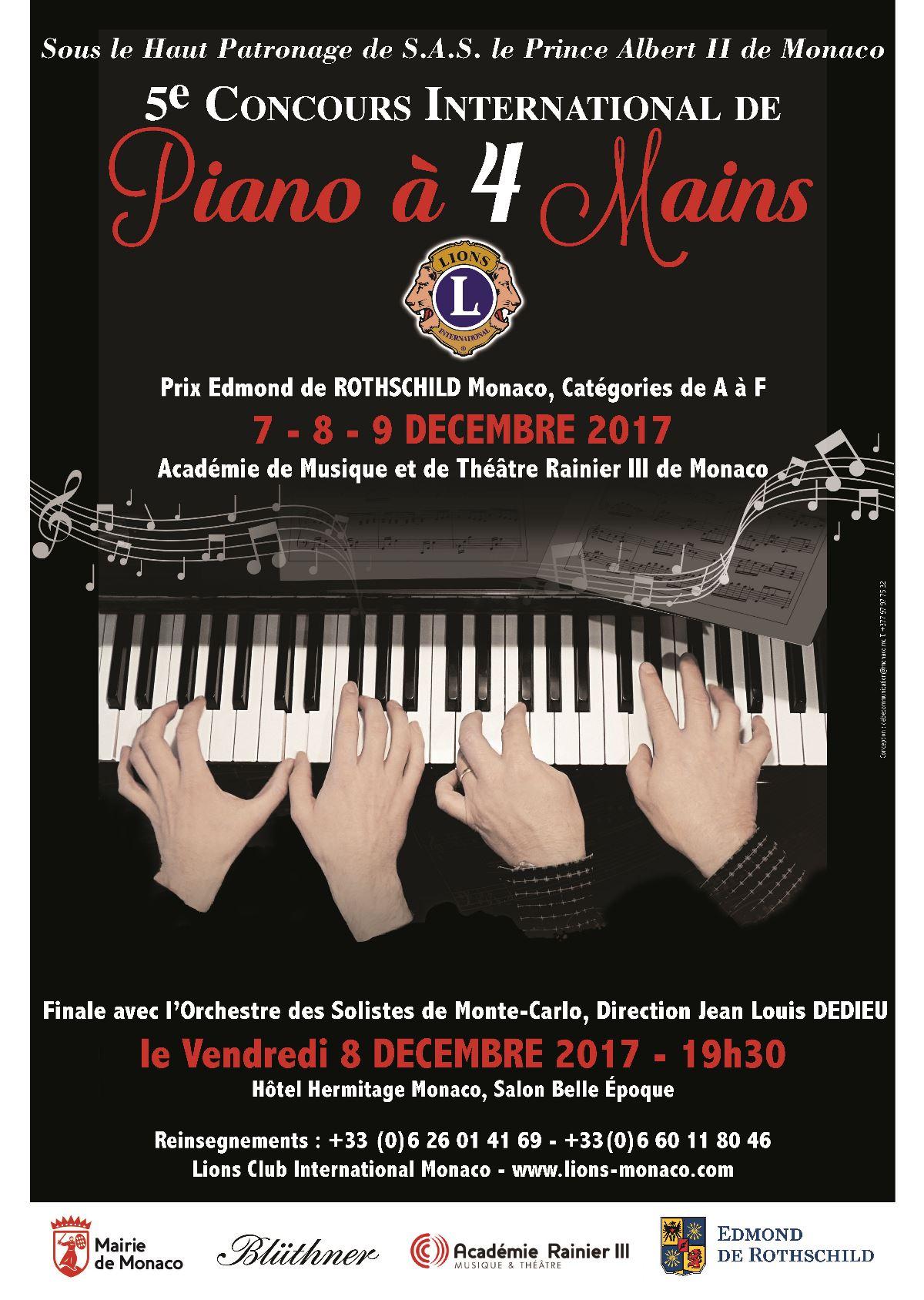 GALA DU CONCOURS DE PIANO À 4 MAINS